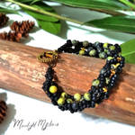 Messy Lava Field Bracelet by MoonlightMysteria