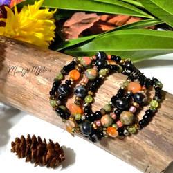 Dark Autumn Treasures 4-Strand Bracelet