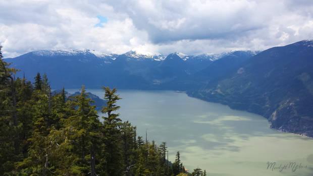 View of Squamish Atop A Gondola Ride
