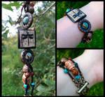 Earthy Dragonfly Beaded Bracelet by MoonlightMysteria