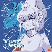 |Monster Hunter FURY!| Lady Raiden - Kirin by orribu