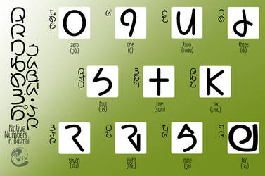 Native Numbers 0-10 (Basmai) by byrdiethemotley