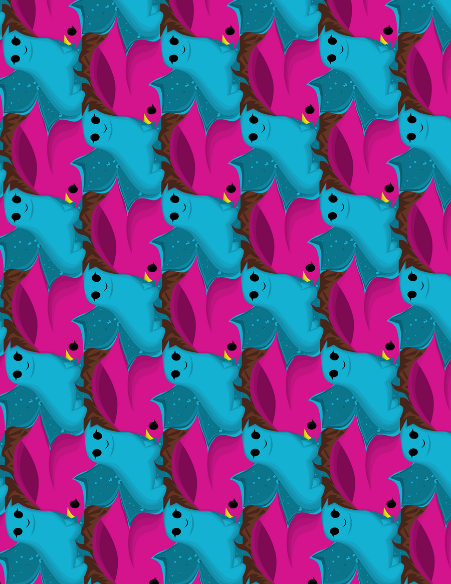dog tessellation art - photo #6