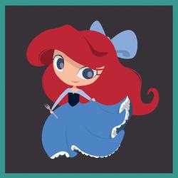 Blue Dress Ariel