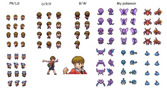 Pokemon trainer sprites by mastokid on DeviantArt