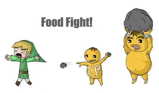 Goron food fight by mastokid