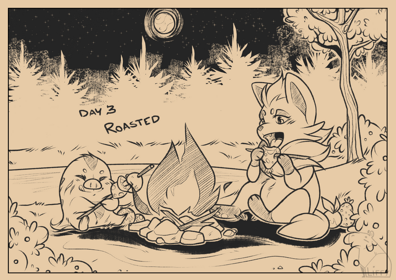 Inktober 2018: Day 3 - Roasted by L-I-F-F-Y