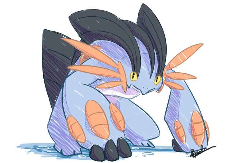 Mega Swampert by Pidoodle