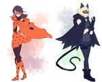 Miraculous Ladybug - Ladybug and Chat Noir
