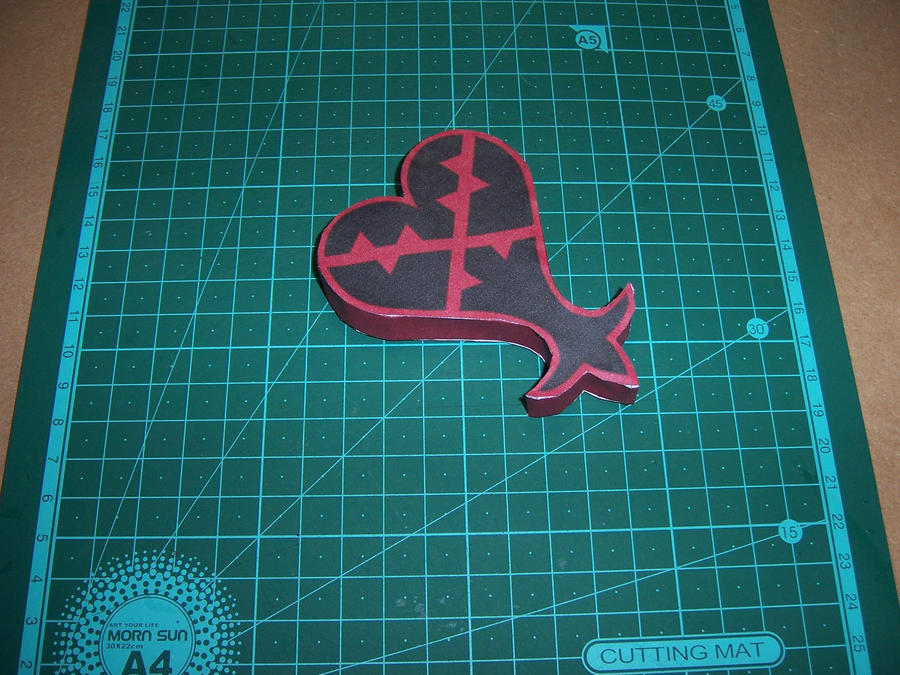 Heartless Logo Papercraft by StormL
