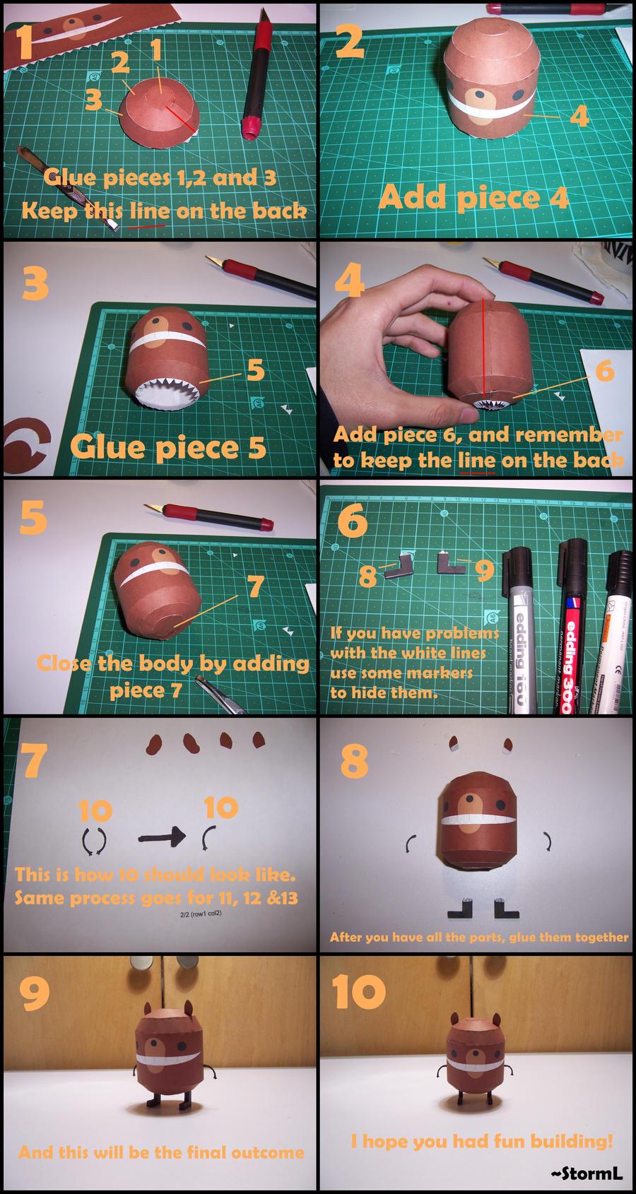 Beartato Papercraft Instructions