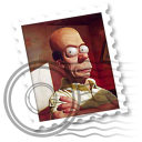 Weird Homer Simpson Mail Icon by EnigMattic
