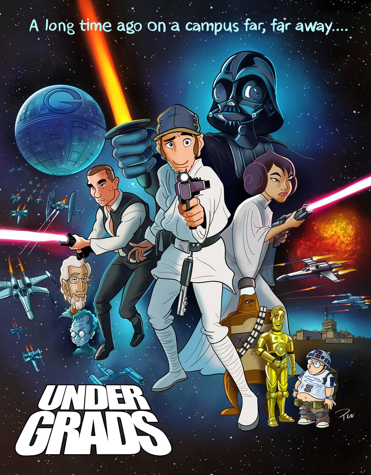 undergrads star wars a new hope poster by
