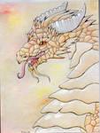 Golden sun dragon