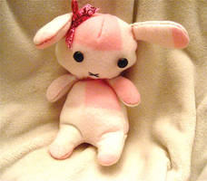 Pink Plaid Bunny Plush by mAd-ArIsToCrAt