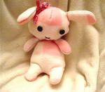 Pink Plaid Bunny Plush