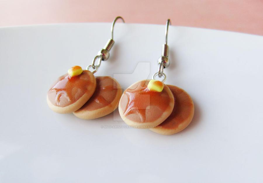 Buttermilk Pancake Earrings by mAd-ArIsToCrAt