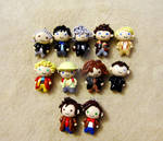 Doctor Who 11 Doctors Chibi Group