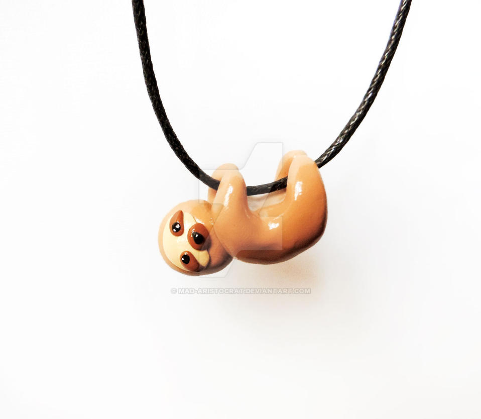 shaped gold dangling animal products necklace in sloth dotoly sleek shiny thumbnail abstract original pendant
