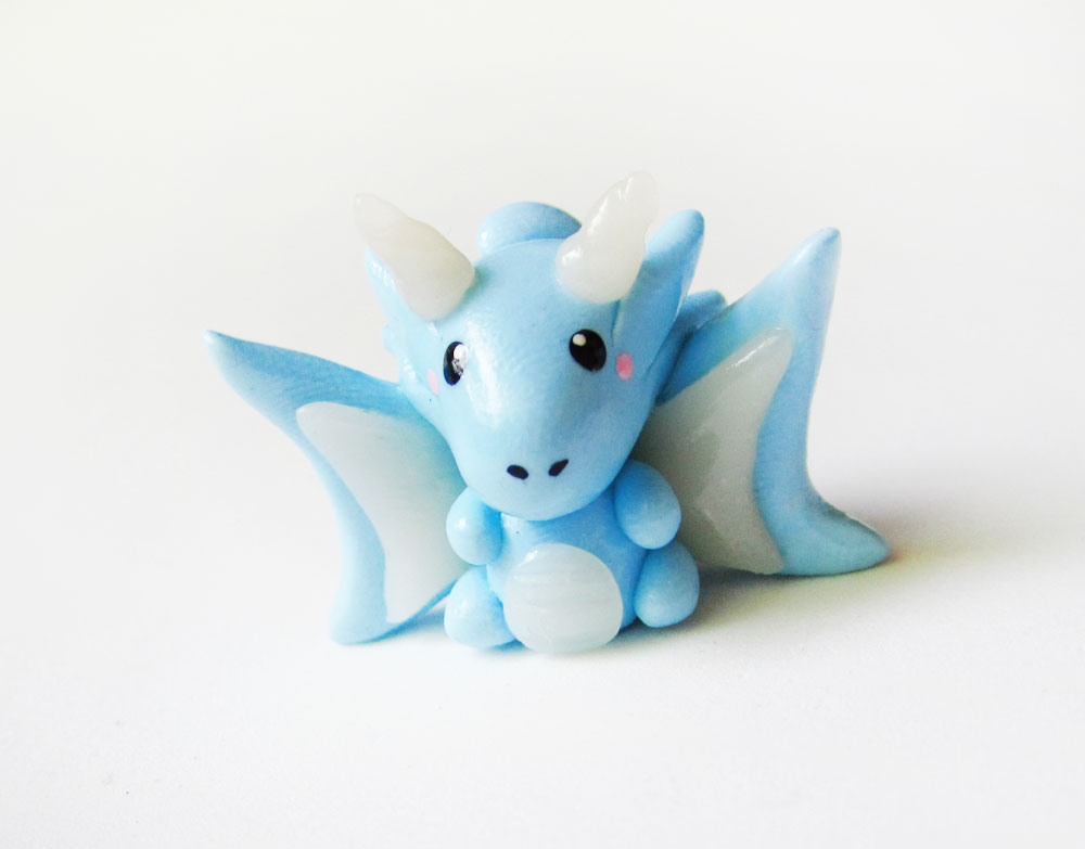 Blue Ice Dragon Figure by mAd-ArIsToCrAt