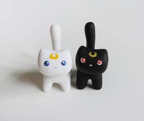 Luna and Artemis Miniature Figures by mAd-ArIsToCrAt