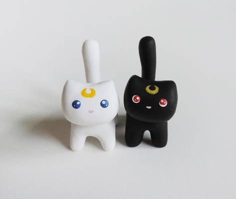 Luna and Artemis Miniature Figures