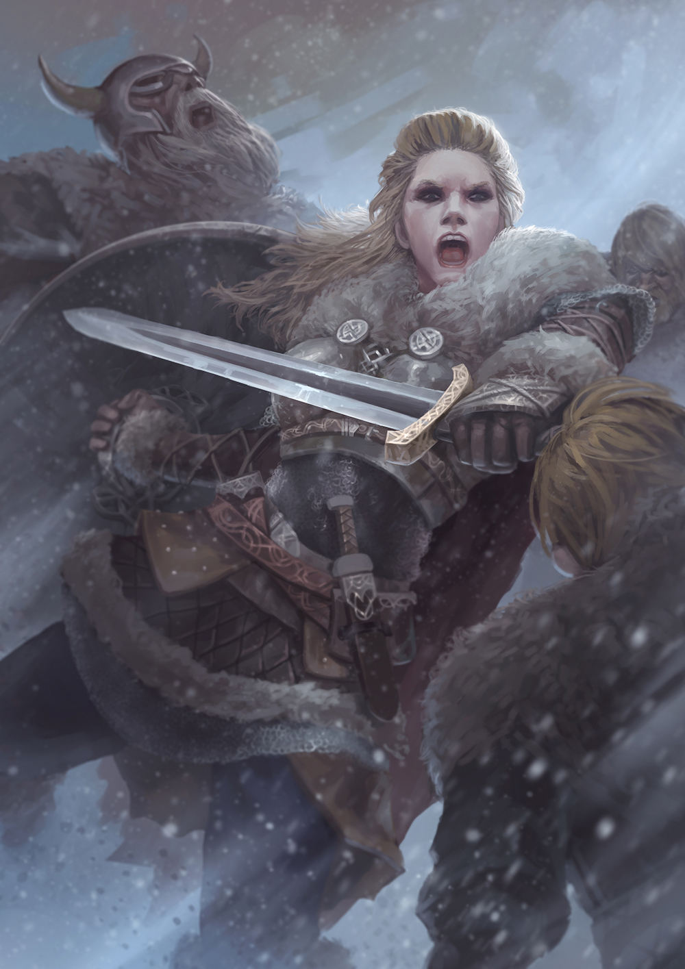 Vikings : Lagherta the shield maiden by GakggGak