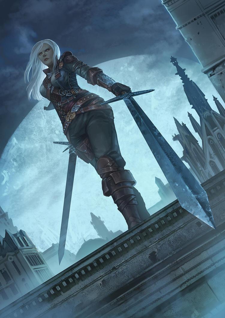fem geralt - witcher by fredrickruntu