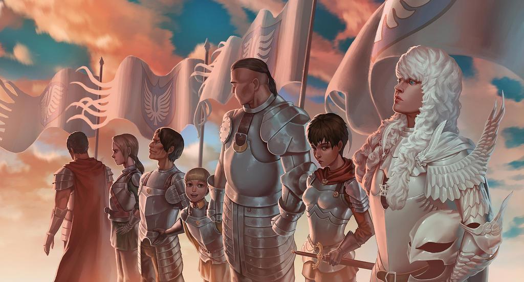 Band of the hawk - Berserk fanart by fredrickruntu