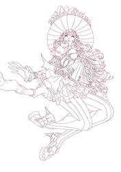 witch lineart