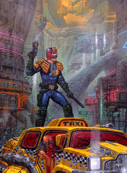 JUDGE DREDD - Megopolis painting by m1llgato5