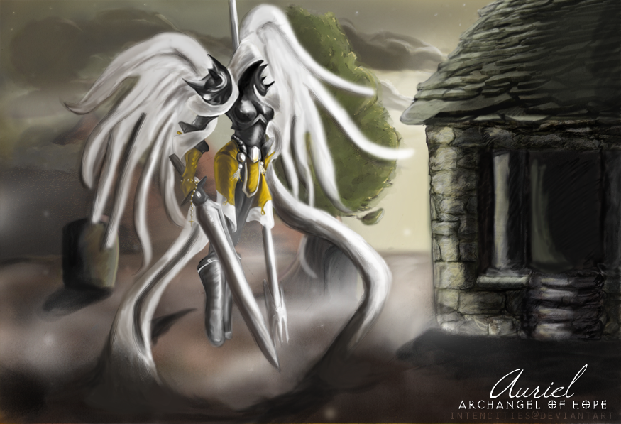 Auriel, Archangel of Hope by intencities