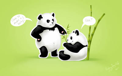 Pandas' problem by En-joyYourLife