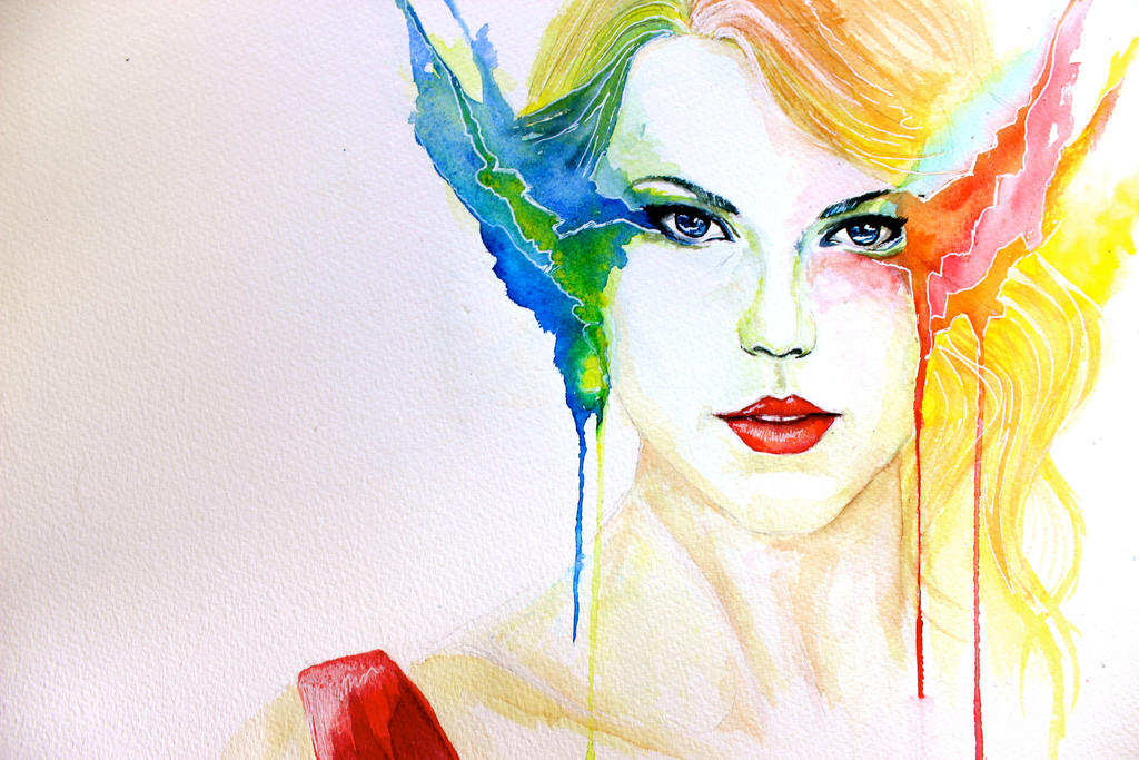 Taylor Swift Abstract Watercolou By Cpsketchbook On Deviantart