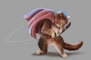 samurai cat by cicakkia