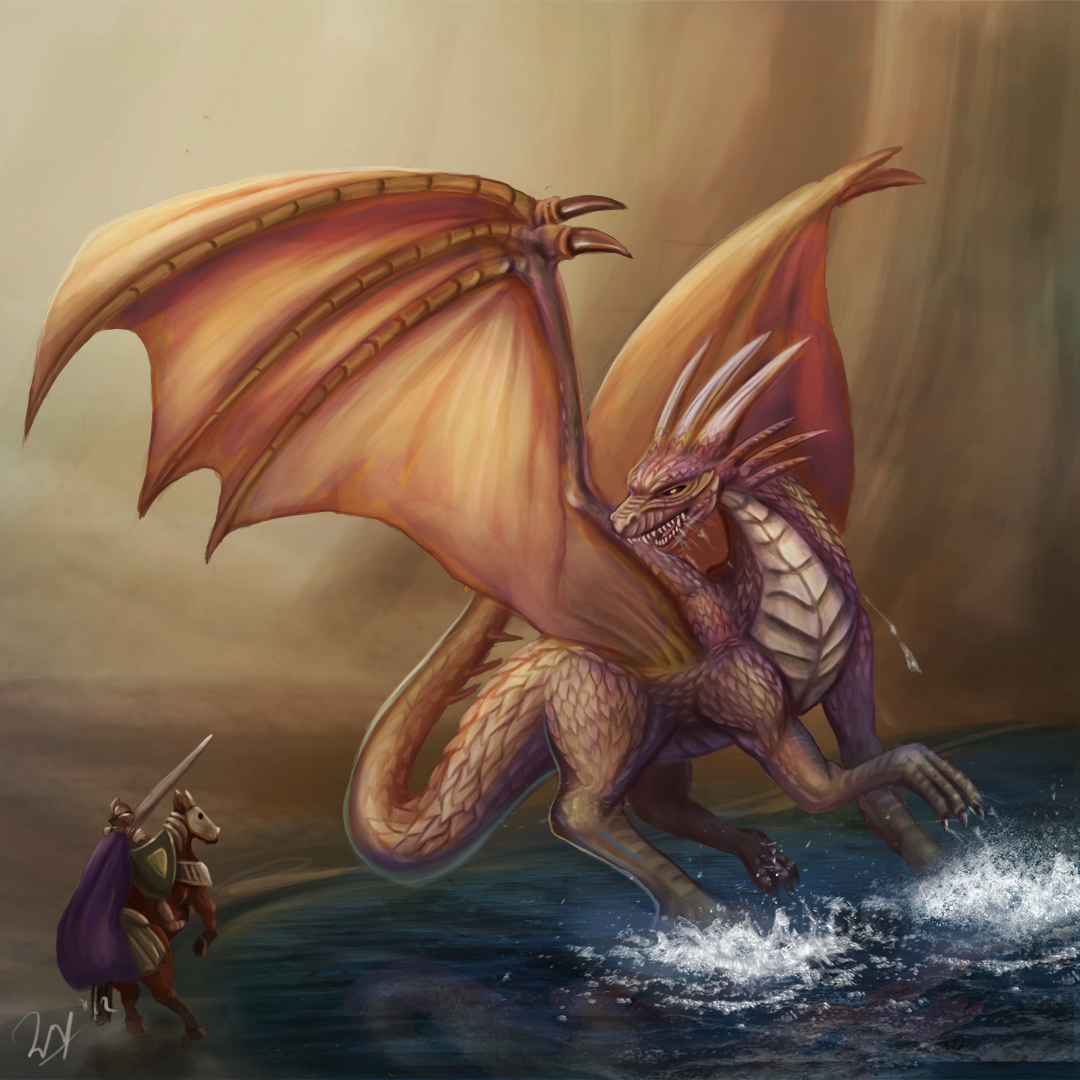 Knight and Dragon by cicakkia on DeviantArt