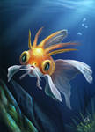 Gold Fish  from  other planet by cicakkia