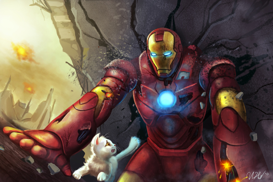 Iron man has heart by cicakkia on deviantart - Iron man heart wallpaper ...