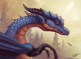 Dragon face by cicakkia
