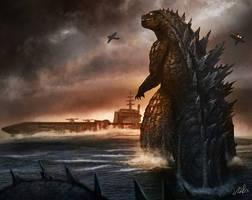 Godzilla by cicakkia
