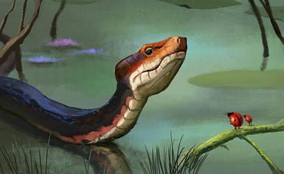 Snake sketch by cicakkia