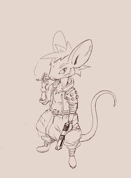 Cyberpunk Mouse sketch