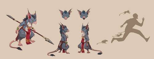 Fantasy character concept Cute but Deadly sheet