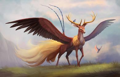 Unusual Griffin by cicakkia