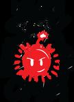 Sexbobomb Logo Red Invert