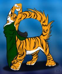Tigertaur posing by Preg-fur