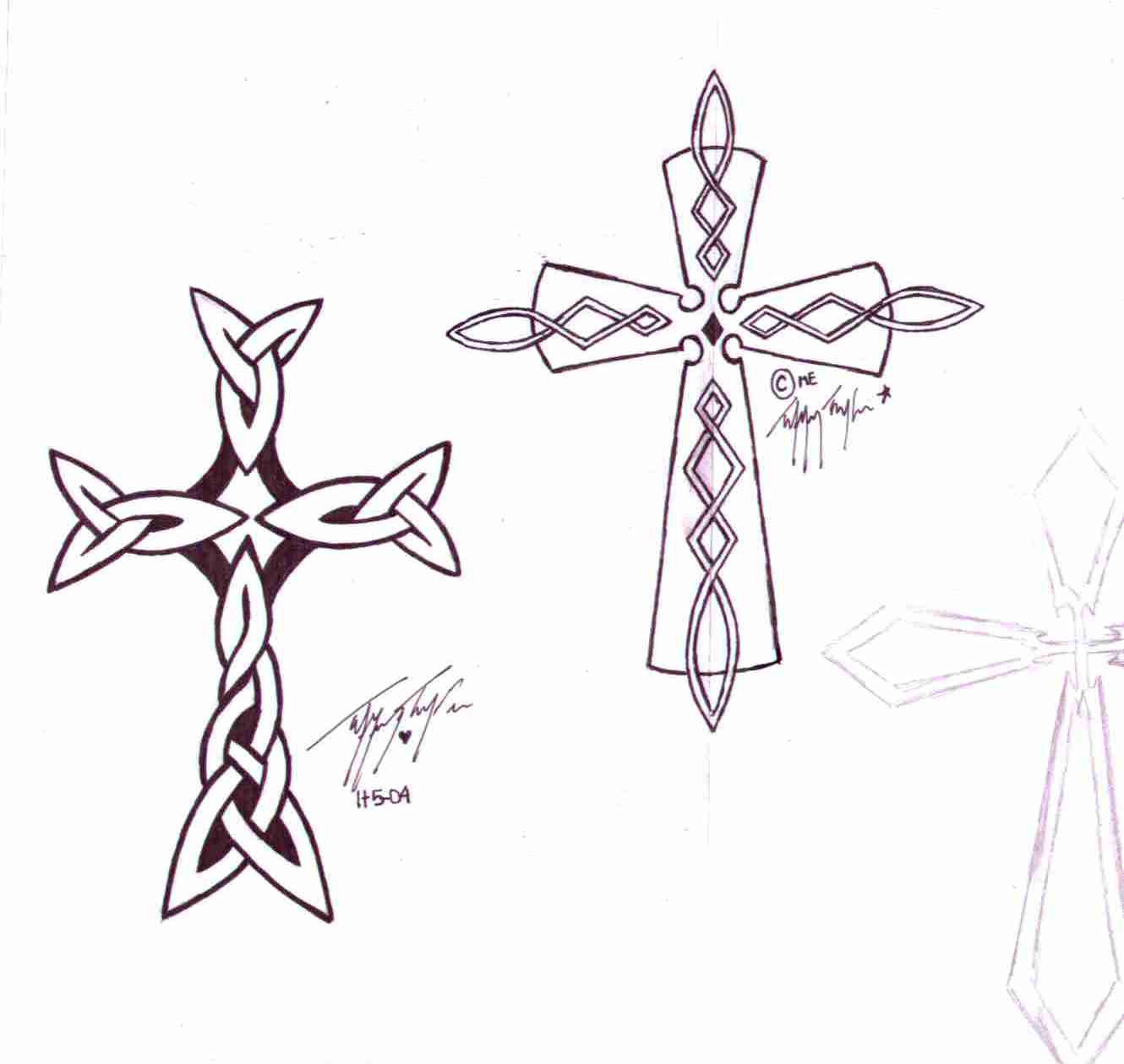 Celtic Crosses by InkMunkY
