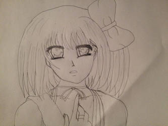 Day 6 - Anime Girl (I will call her Crystal) by ChaudStarpower