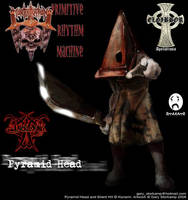Pyramid Head White Metal by FreakGasMask