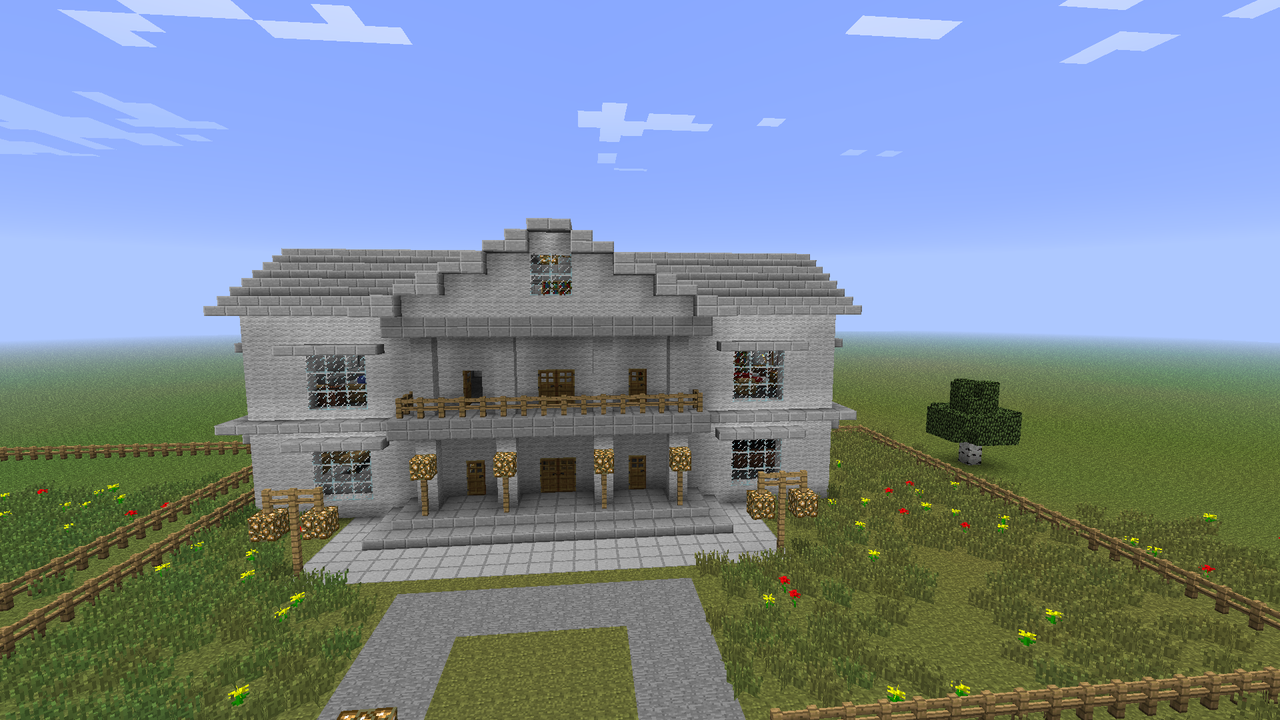 how to build a mansion in minecraft